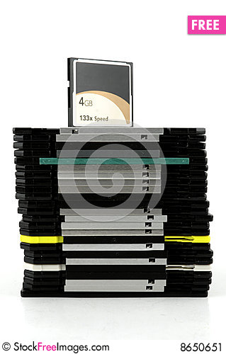 Free Flash Card And Floppy Disks Stock Image - 8650651