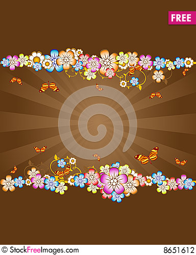 Free Floral Background Stock Photography - 8651612