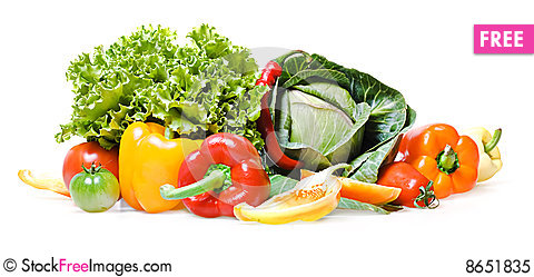 Free Vegetables Isolated Royalty Free Stock Photo - 8651835