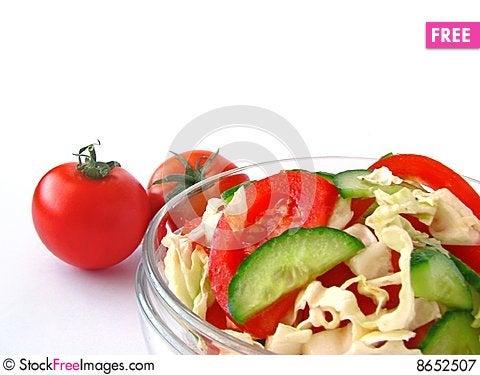 Free Fresh Vegetable Salad Royalty Free Stock Photography - 8652507