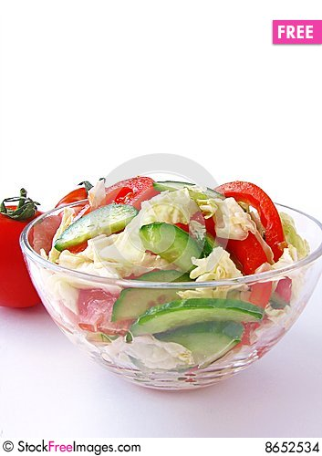 Free Fresh Vegetable Salad Stock Images - 8652534