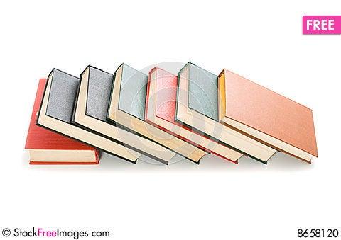 Free Books Isolated On White Background Stock Photo - 8658120