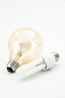 Free Two Bulbs Royalty Free Stock Photo - 8650115