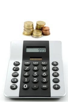 Free Calculator And Money Royalty Free Stock Photos - 8650728