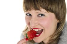 Free Strawberry Girl Royalty Free Stock Photography - 8651307