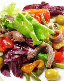 Free Salad With Anchovy Stock Photography - 8651572