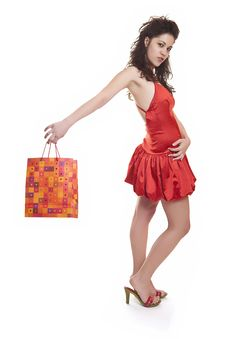 Free Shoppers In Red Stock Photo - 8651610