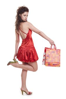 Free Shoppers In Red Royalty Free Stock Images - 8651679