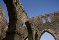 Round Arch Ruin And Blue Sky Stock Image