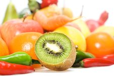 Free Vegetables & Fruits Isolated Royalty Free Stock Image - 8651806