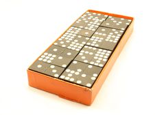 Box Of Dominoes Stock Images
