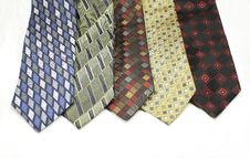 Free Different Colored Ties Royalty Free Stock Photos - 8652368