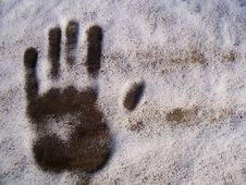 Free Print Hands In Snow Stock Images - 8652744