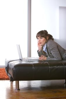 Free Business Woman In A Modern Loft Office Royalty Free Stock Photography - 8653057