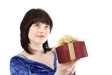 Free Girl With Gift Royalty Free Stock Photography - 8653237