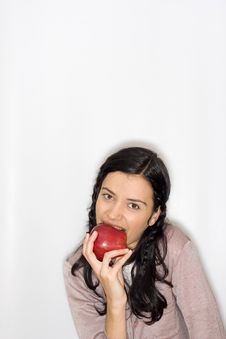 Free Young Woman Holding Apple Royalty Free Stock Image - 8653416