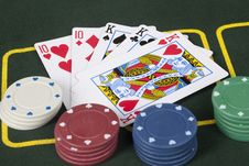 Free Full House Poker Hand Royalty Free Stock Photos - 8653578