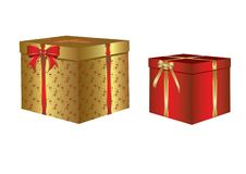 Free Box With A Christmas Gift Stock Image - 8653781