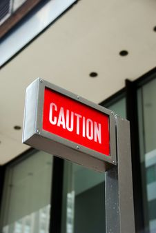 Free Caution Red Alert Sign Stock Photography - 8653832