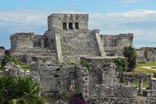 Tulum Ruins 1 Royalty Free Stock Photo