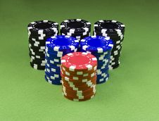 Free Casino Chips Royalty Free Stock Image - 8654096
