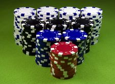 Free Very Big Casino Chips Stack Stock Photo - 8654110