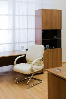 Free Table, Chairs And Bookcase Stock Photography - 8654272