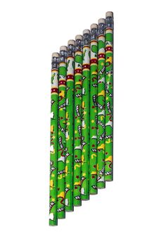 Eight Green Pencils Royalty Free Stock Photos