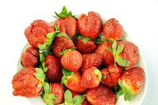 Free Plate Of  Strawberry. Royalty Free Stock Photo - 8654425