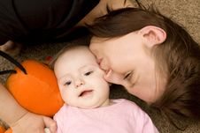 Free Mother And Baby Playing In Home Stock Photography - 8654762