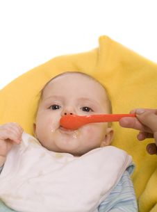 Free Eating Baby Royalty Free Stock Photo - 8654955