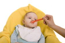 Free Eating Baby Royalty Free Stock Image - 8654956
