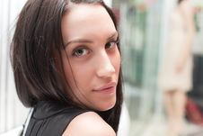 Free Attractive Brunette Woman In The Shop Royalty Free Stock Photo - 8655645