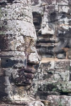 Faces Of Angkor Thom Royalty Free Stock Images