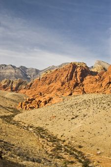 Free Red Rock Canyon Landscape In Nevada Royalty Free Stock Photography - 8656717