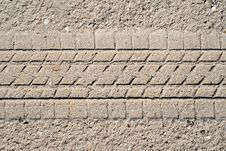 Free Sand With Tyre Tread Royalty Free Stock Photo - 8657485