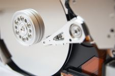Free Hard Drive Opened On White 3 Stock Photography - 8657572