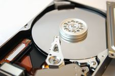 Free Hard Drive Opened On White 2 Stock Images - 8657574