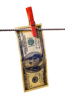 Free Dollar With Clothespin Royalty Free Stock Photo - 8659185