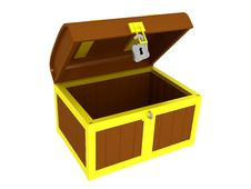 Free Empty Treasure Chest Stock Photo - 8659320