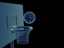 Free Ball In Basket Royalty Free Stock Photo - 8659395