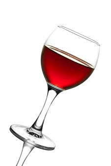 Free Glass Of Red Wine Isolated Stock Images - 8659874