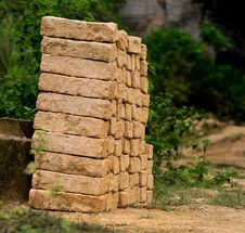 Free Handmade Brick At Bukit Kapur. Indonesia Royalty Free Stock Photo - 86542755