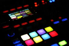 Free Colorful Lights On Control Panel Royalty Free Stock Photos - 86574618
