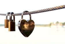 Free Close-up Of Padlocks On Railing Against Sky Royalty Free Stock Images - 86575179