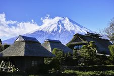 Free Bungalows At Mount Fuji, Japan Royalty Free Stock Photos - 86575498