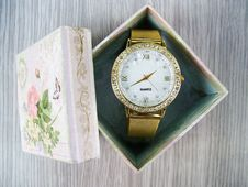 Free Vintage Watch In Box Stock Images - 86575524