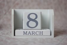 Free March 8 On Calendar Royalty Free Stock Images - 86575649