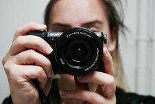 Free Woman Holding Black Sony Dslr Camera Taking A Photo Of Herself At Mirror Royalty Free Stock Photo - 86577235
