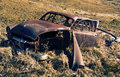 Free Old Rusty Abandoned Car In A Field Royalty Free Stock Image - 8661726